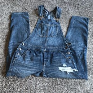 Women's American Eagle Distressed Overalls